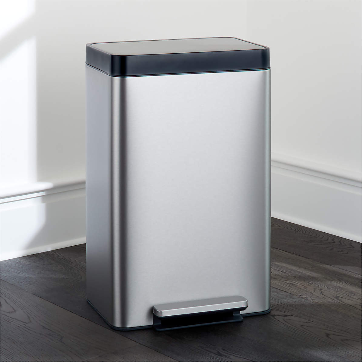 Kohler Dual Compartment Stainless Steel Step Trash Can Reviews Crate And Barrel Canada