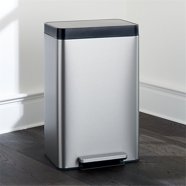 Kohler ® Dual-Compartment Stainless Steel Step Trash Can - Image 1 of 2