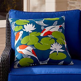 """Koi 20"""" Sq. Outdoor Pillow"""