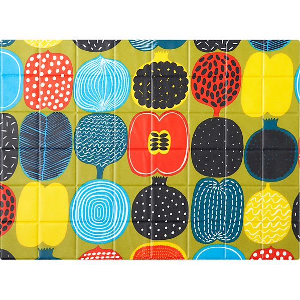 Marimekko Kompotti Green and Multi Oilcloth Placemat