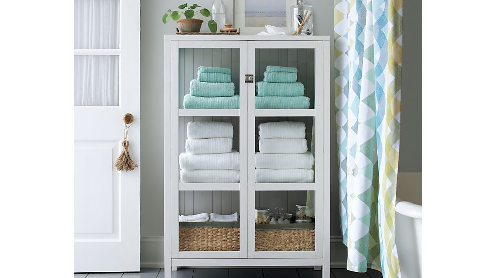 Houzz bathroom ideas - Kraal White Cabinet Crate And Barrel