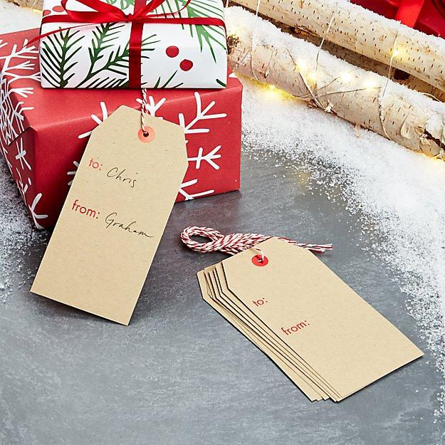 Kraft Gift Tags, Set of 10