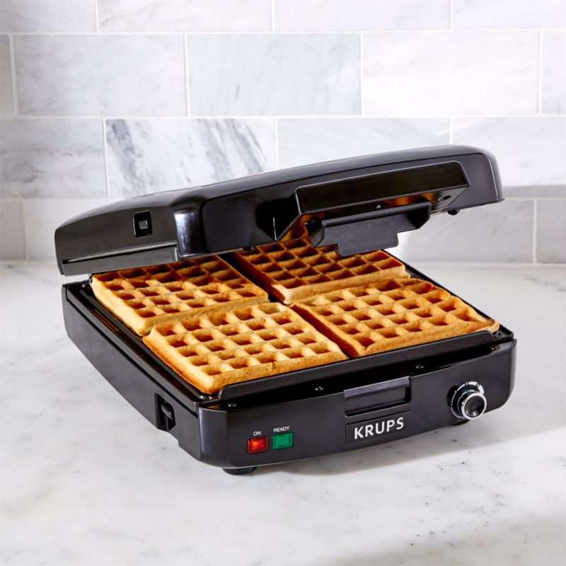 Krups Belgian Waffle Maker 4 Slice Reviews Crate And