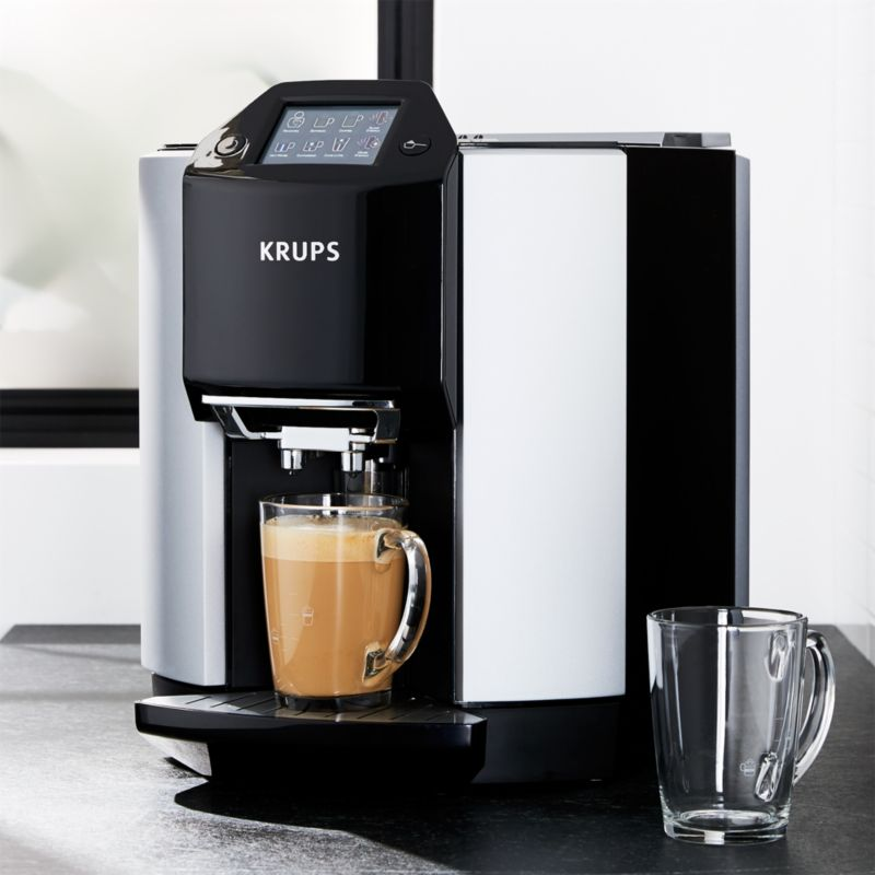 Krups Barista Fully Automatic Espresso Maker Reviews Crate And Barrel