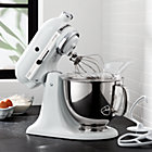 White Kitchenaid kitchenaid ® artisan matte white stand mixer | crate and barrel