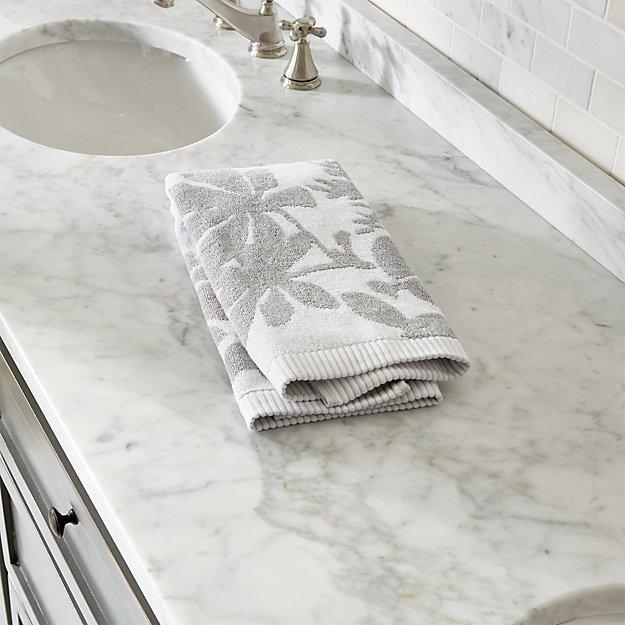 Kukkula Grey Hand Towel
