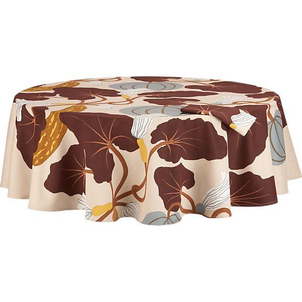 "Marimekko Kumina Neutral 72"" Round  Tablecloth"