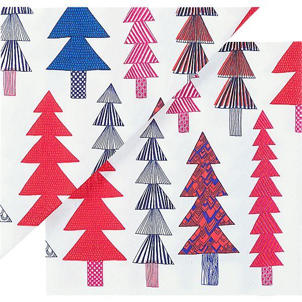 """Set of 20 Marimekko Kuusikossa Paper 6.5"""" Napkins"""