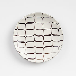 Kyoto Black-and-White Appetizer Plate
