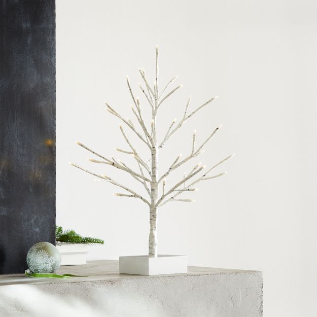 "LED 18"" Birch Tree - Come explore White Swedish Farmhouse Christmas & Scandinavian Holiday Decor Simplicity. #swedishchristmas #scandinavian #holidaydecor"