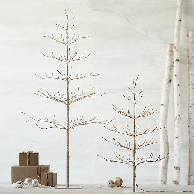 led 7 birch tree reviews crate and barrel