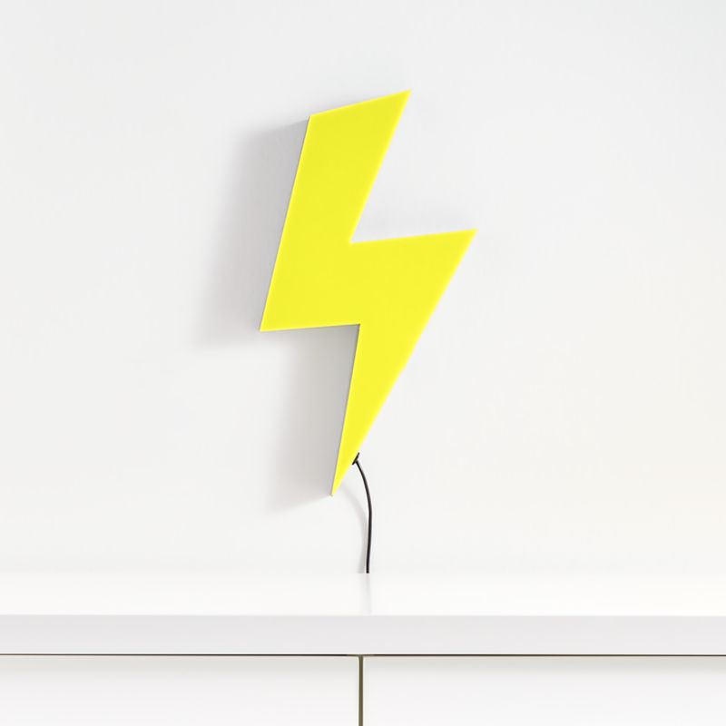 Led Lightning Bolt Wall Light Reviews Crate And Barrel