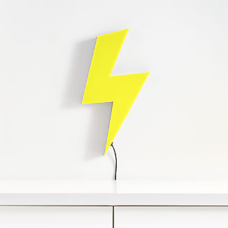 LED Lightning Bolt Wall Light