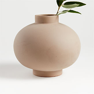 Full Moon Clay Vase