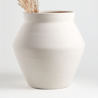 White Wabi Floor Vase