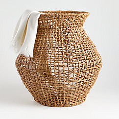 Wonky weave basket designed by Leanne Ford for Crate and Barrel. #leanneford #baskets #crateandbarrel