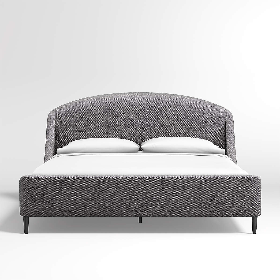 Lafayette Charcoal Upholstered King Bed Crate And Barrel