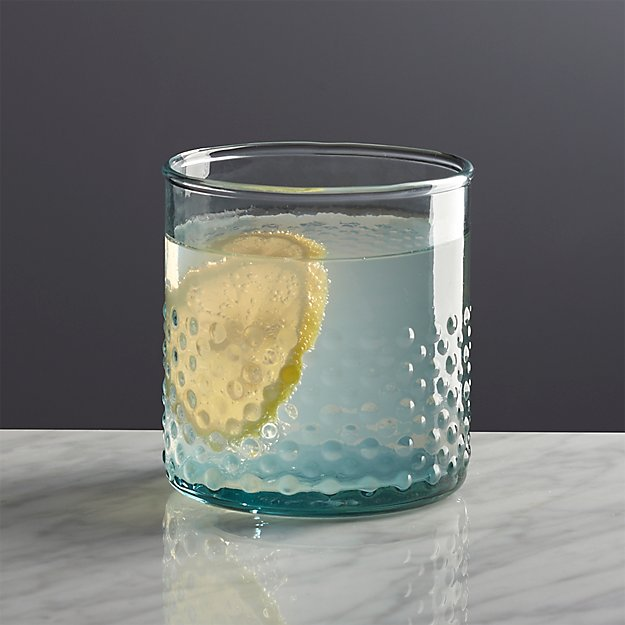 Crate And Barrel Double Old Fashioned Green