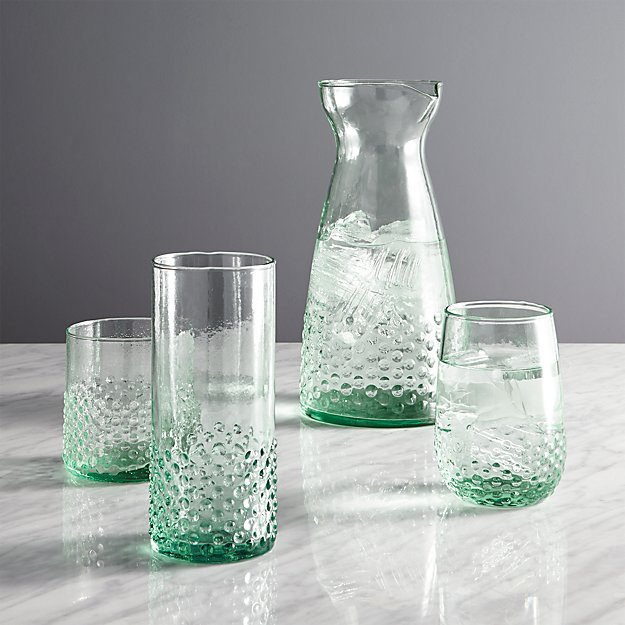 Lagos spanish recycled glass stemless wine in wine glasses - Crate and barrel espana ...