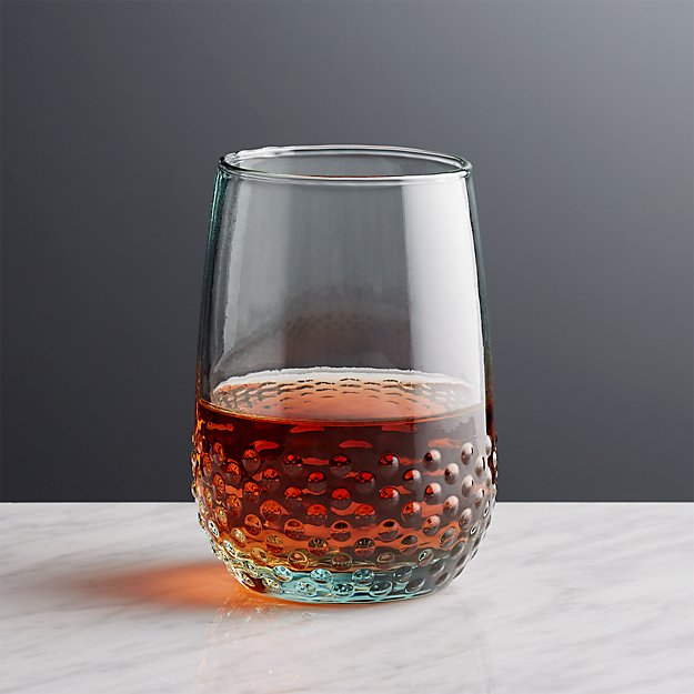 Lagos spanish recycled glass stemless wine crate and barrel - Crate and barrel espana ...