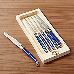 Laguiole ® Blue Steak Knives, Set of 6