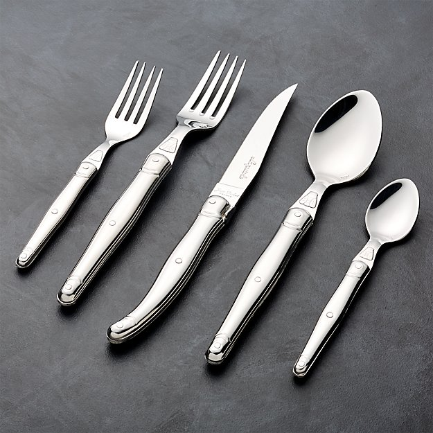 Laguiole ® Brushed Stainless Steel 5-Piece Flatware Place Setting - Image 1 of 2