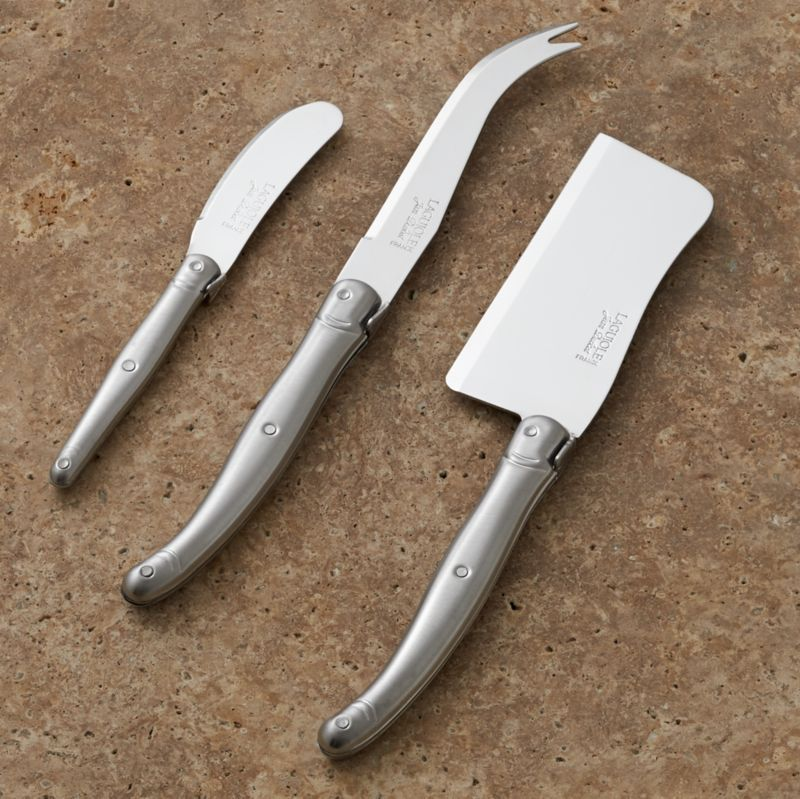 Laguiole Cheese Knife 3 Piece Set Reviews Crate And Barrel