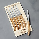 Laguiole ® Oak Steak Knives, Set of 6