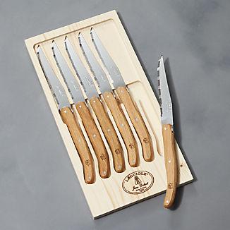 Laguiole ® Oak Steak Knives, Set of 6