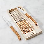 Laguiole ® Olivewood Steak Knives, Set of 6