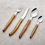 Laguiole ® Olivewood 16-Piece Flatware Set