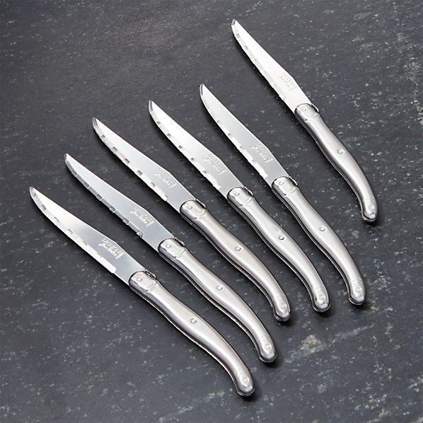 LaguioleSSSteakKnivesS6SHF16