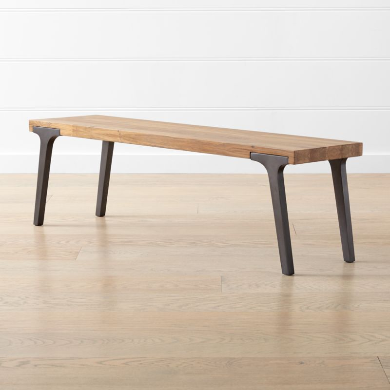 """Lakin Recycled Teak Coffee Table: Lakin 59"""" Recycled Teak Bench + Reviews"""