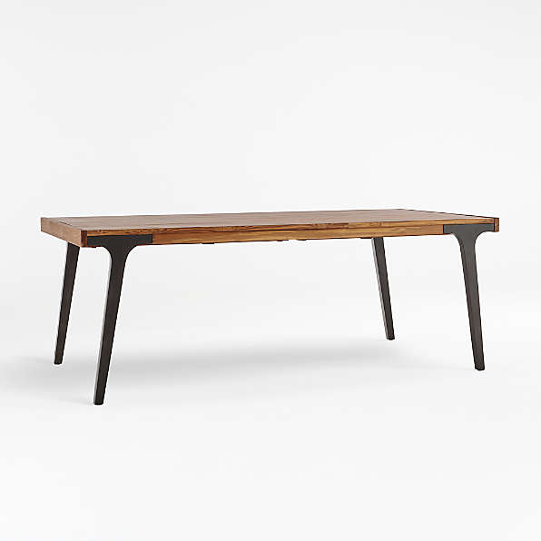 Expandable Dining Tables Farmhouse Modern Crate And Barrel