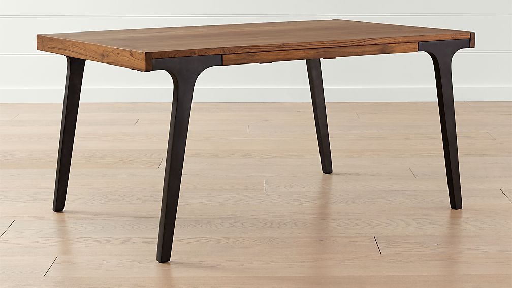 Lakin 61 Recycled Teak Extendable Dining Table Reviews Crate