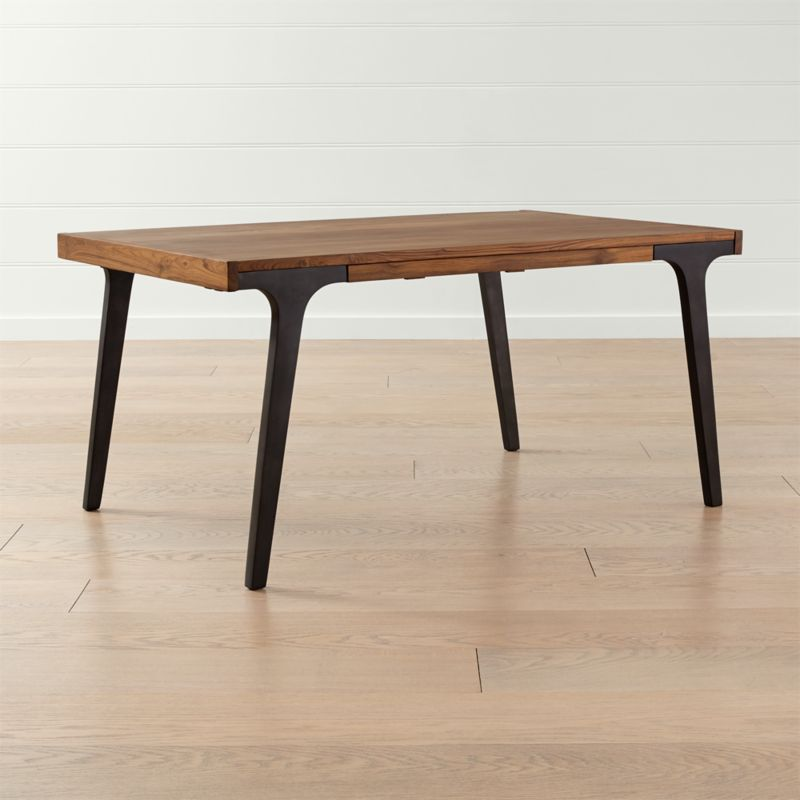 """Lakin Recycled Teak Coffee Table: Lakin 61"""" Recycled Teak Extendable Dining Table + Reviews"""