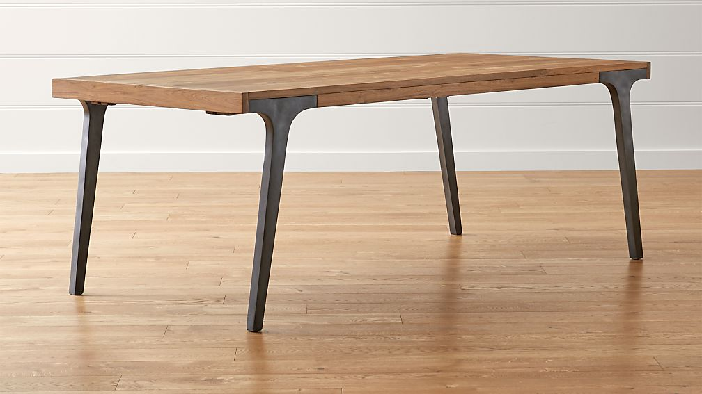 Lakin 81 Recycled Teak Extendable Dining Table Reviews Crate And Barrel