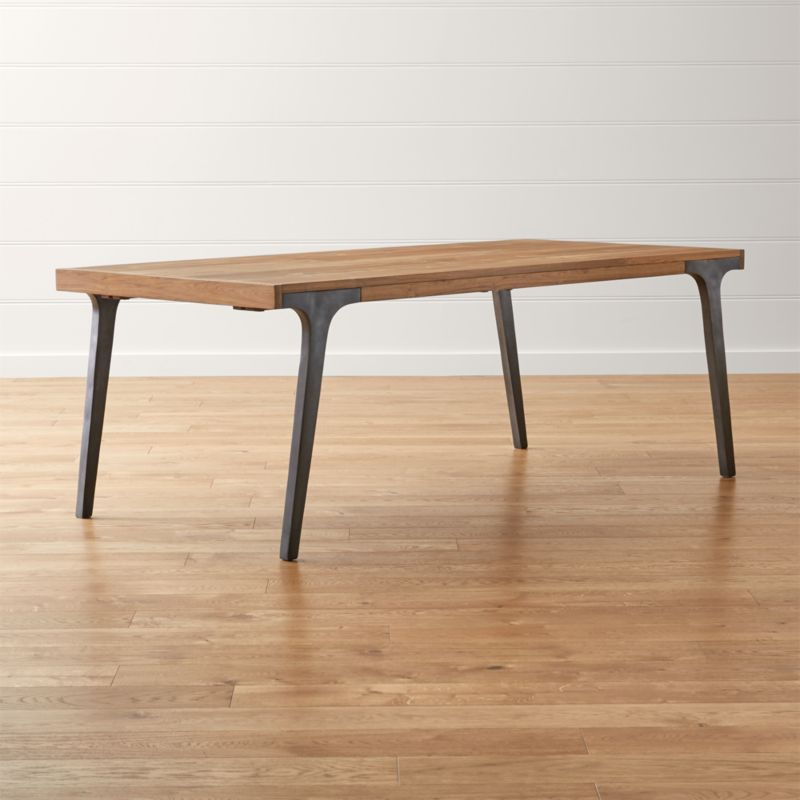Lakin Recycled Teak Extendable Dining Table. Dining Room   Kitchen Tables to Gather Around   Crate and Barrel