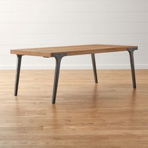 lakin 81 recycled teak extendable dining table
