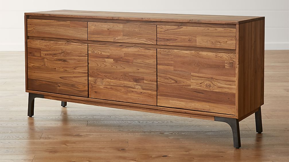 Teak Wood Buffet ~ Lakin recycled teak sideboard crate and barrel