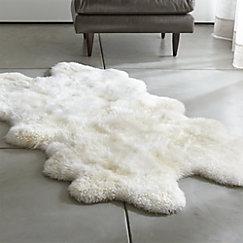 Sheepskin Ivory 42 X72 Throw Rug
