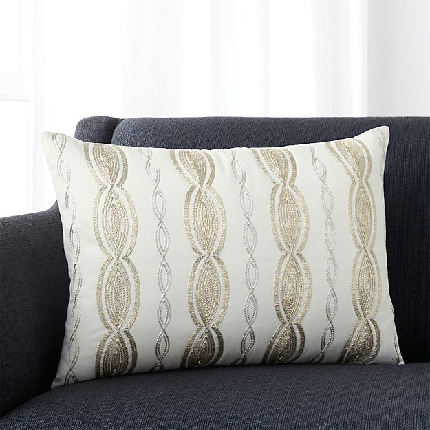 """Lametta 22""""x15"""" Pillow with Feather-Down Insert"""