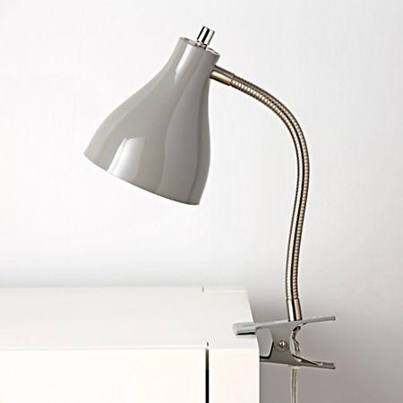 Grey Clip Lamp