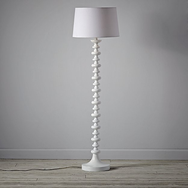 Jenny Lind White Floor Lamp in Floor Lamps + Reviews | Crate and ...