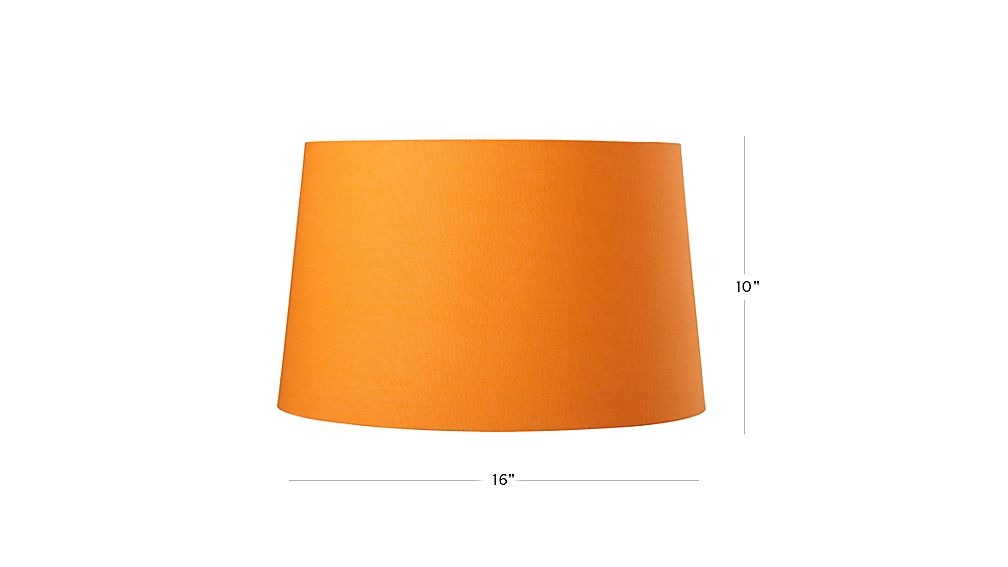 TAP TO ZOOM Image With Dimension For Mix And Match Orange Floor Lamp Shade