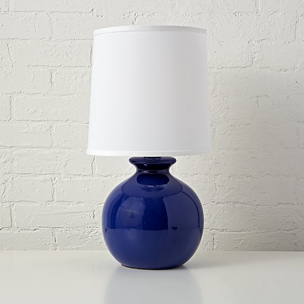 Gumball blue table lamp reviews crate and barrel