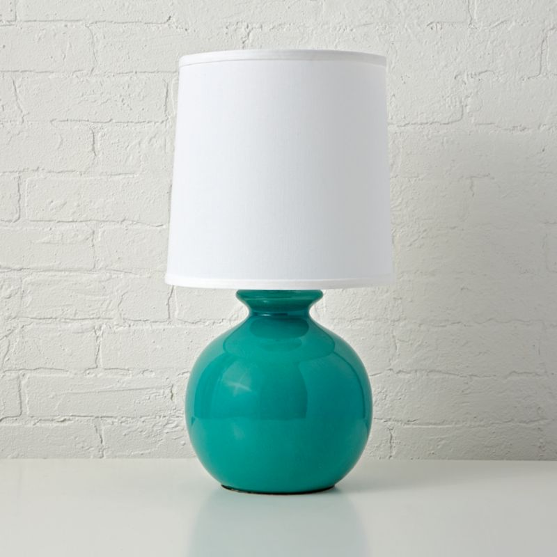 Gumball Teal Table Lamp Reviews Crate And Barrel