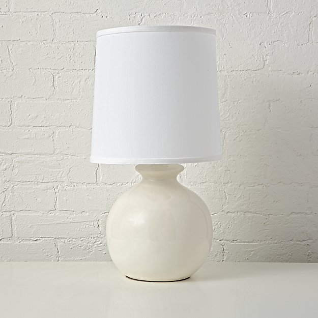 Gumball White Table Lamp + Reviews | Crate and Barrel