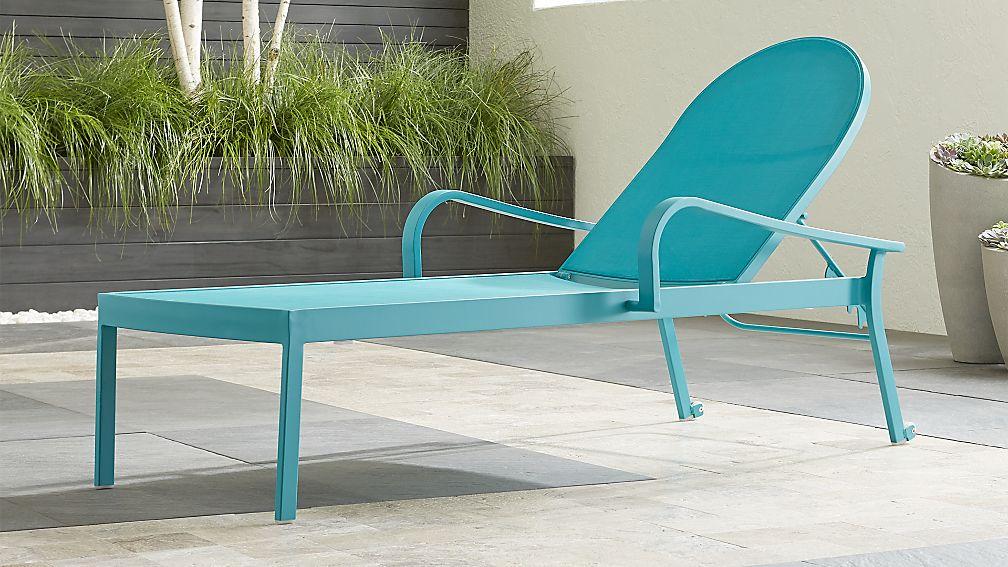 Lanai Aqua Mesh Chaise Lounge - Image 1 of 10