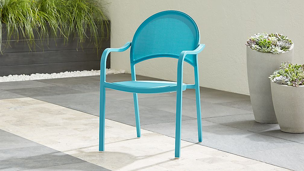 Lanai Aqua Mesh Dining Chair - Image 1 of 7